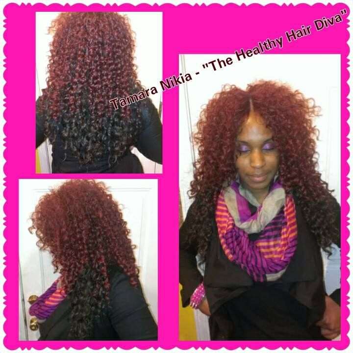 Quick Weave Curly Hair Invisible Part - Hair Weave